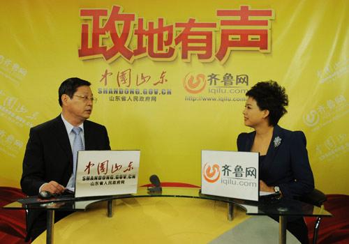 山東省環境保護廳副廳長謝鋒做客《政地有聲》