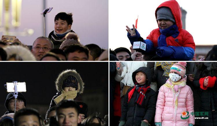 """新年第一天观看升旗的表情 """"00""""后最萌(组图)"""