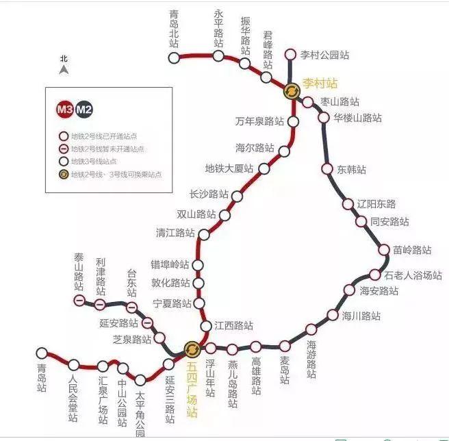 青岛最详细地铁,公交大全!时间,沿途风景