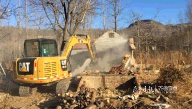 济南锦绣川水源地拆除8处违建,离水源地最近五六米