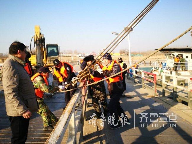 济南黄河防凌已拆除5座浮桥,还有1座正在拆
