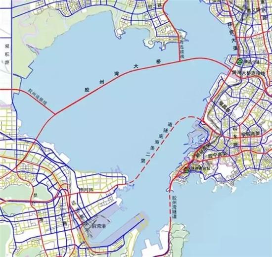 目前,第二条海底隧道两端位置已经基本确定,初步计划在西海岸新区一端