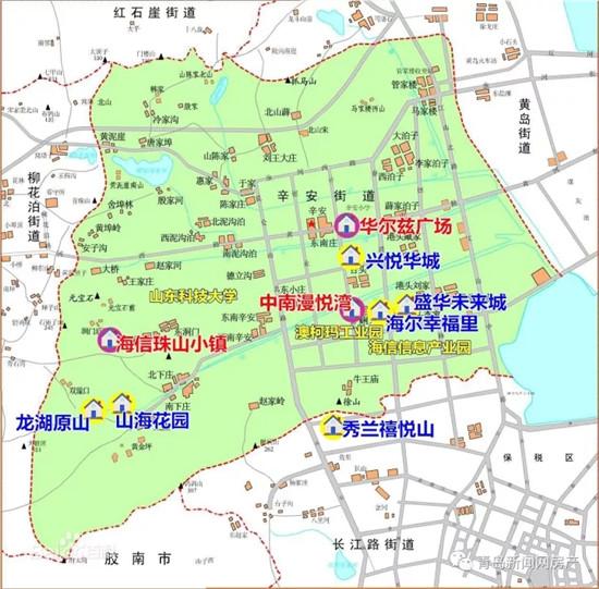 青岛各大学地图