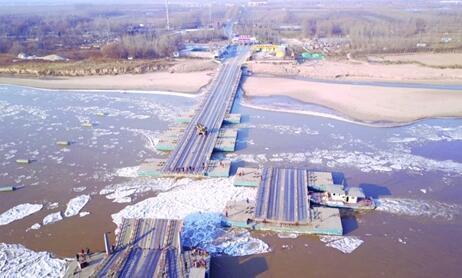 黄河山东段蔓延475公里 为应对淌凌已拆19座浮桥