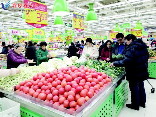 潍坊城区部分蔬菜价格上涨 受天气、运输因素影响