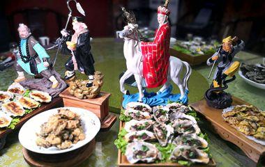 """乳山""""蚝""""门盛宴惊艳眼球牡蛎大餐一桌1300"""