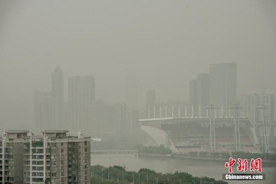 广州今年首次遭遇重度污染