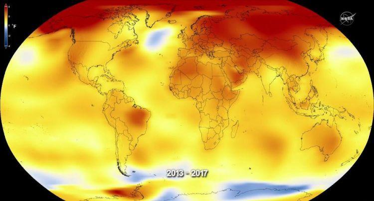 NASA发布2017全球气温:1880年以来第二高温(组图)