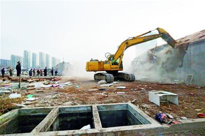 大杂院拆除近尾声今年李沧计划拆违50万平方米