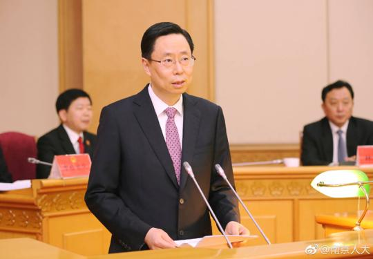 蓝绍敏就任南京代市长 缪瑞林请辞市长职务