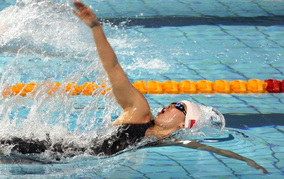 全国春季游泳锦标赛 傅园慧汪顺晋级100仰决赛