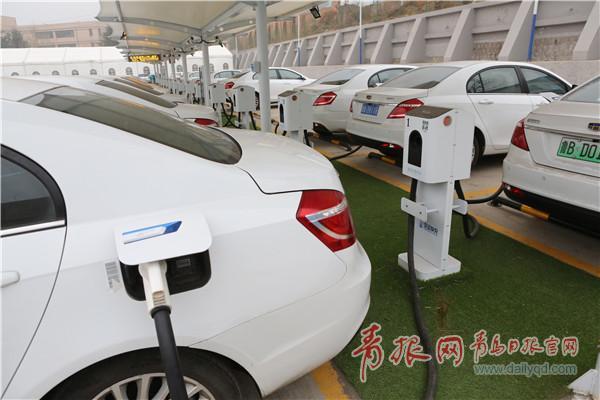 山东最大乘用车充电站青岛投用 日充电400辆车次