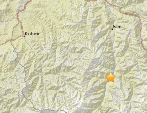 兴都库什地区发生6.1级地震 震源深度191.2公里