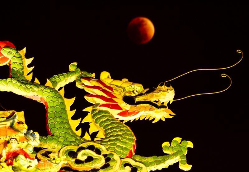 最美山东|超级月亮亮相古城台儿庄 明月花灯交相辉映