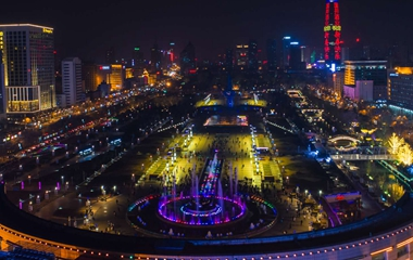 流光溢彩喜迎新年 泉城广场亮灯光彩夺目