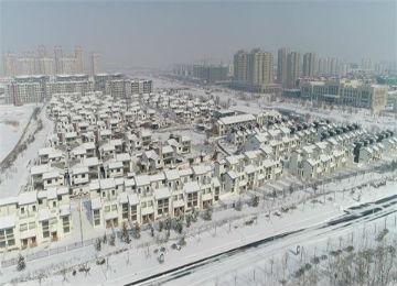 白雪皑皑铺满地 北国风光映眼帘