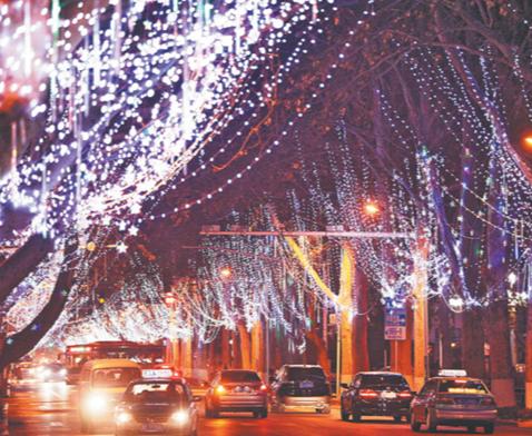 淄博中心城区彩灯迎春