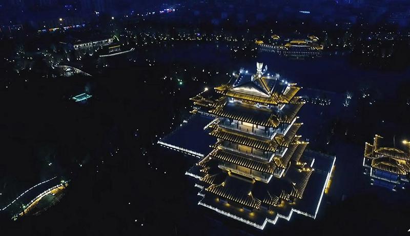 流光溢彩!93秒航拍视频带你先赏泉城夜宴