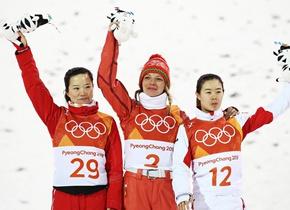 冬奥自由式滑雪女子空中技巧中国选手获银、铜牌