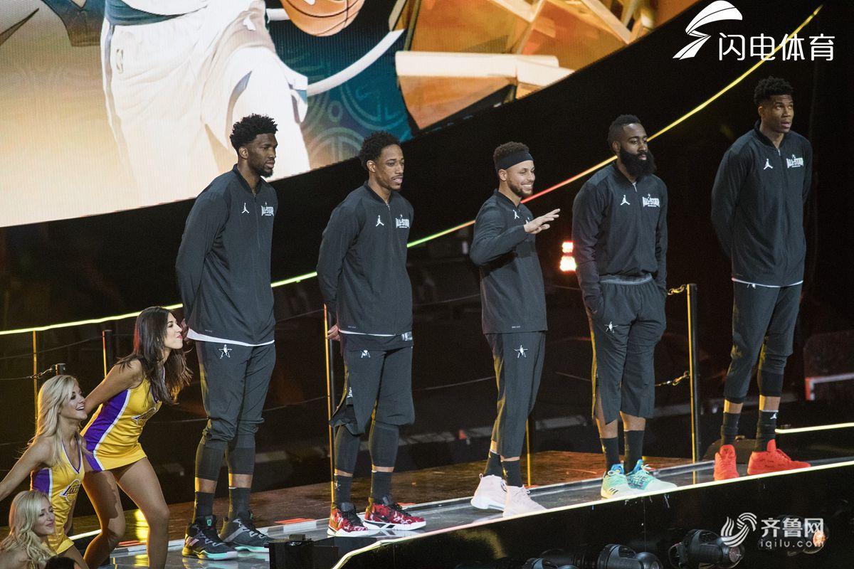 2018NBA全明星正赛 库里队首发(图片来源:视觉中国)-NBA全明星