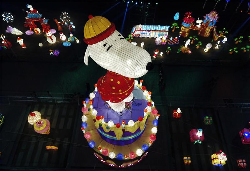 淄博花灯璀璨点亮 持续时间跨越多个节日