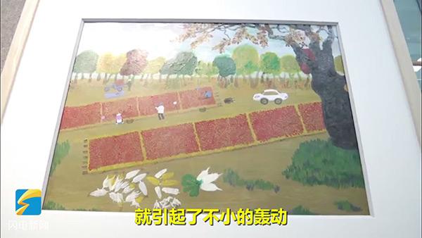 【家国网聚网络旺年】乐陵50余位农民爱上画画,作品在澳门参展图片
