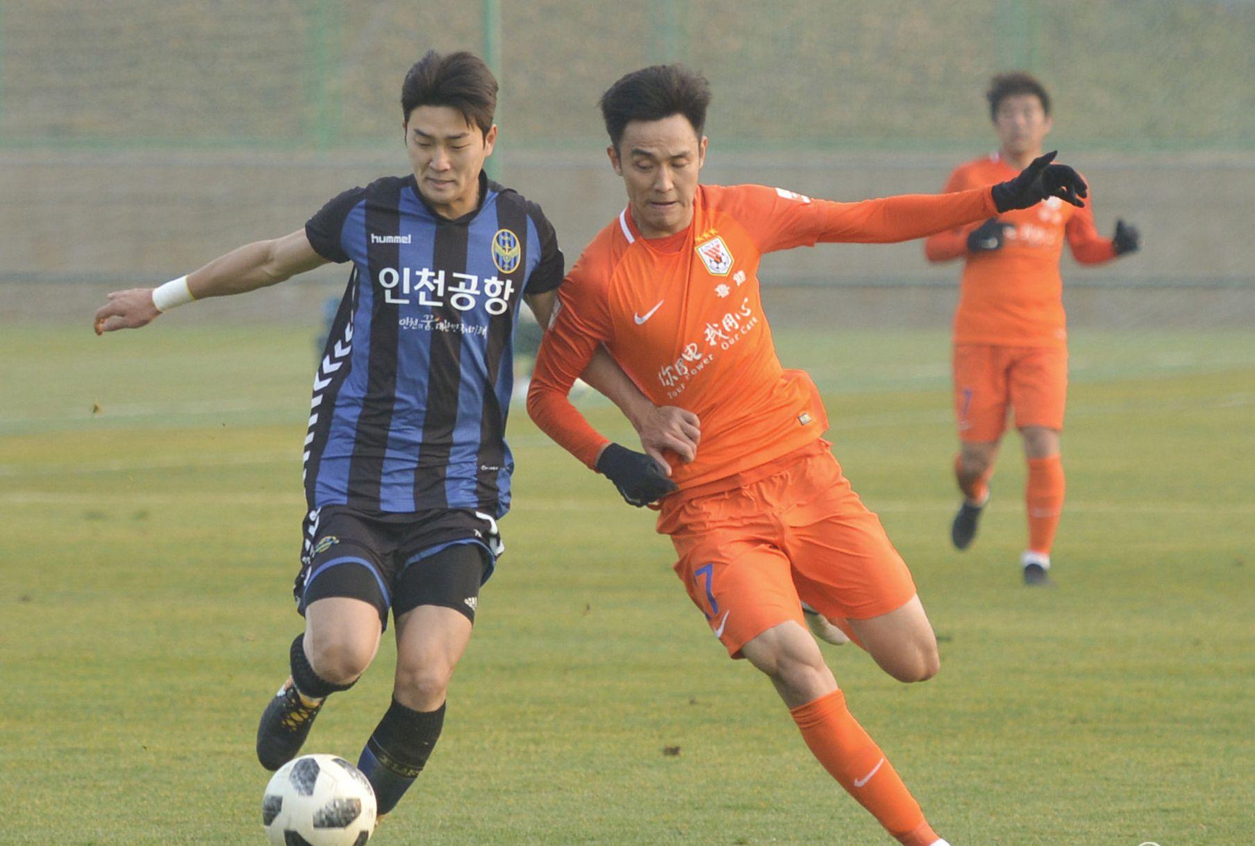 2018足球热身赛:山东鲁能Vs仁川FC