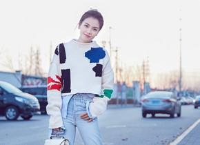 刘涛时尚街拍活力满满引领早春搭配