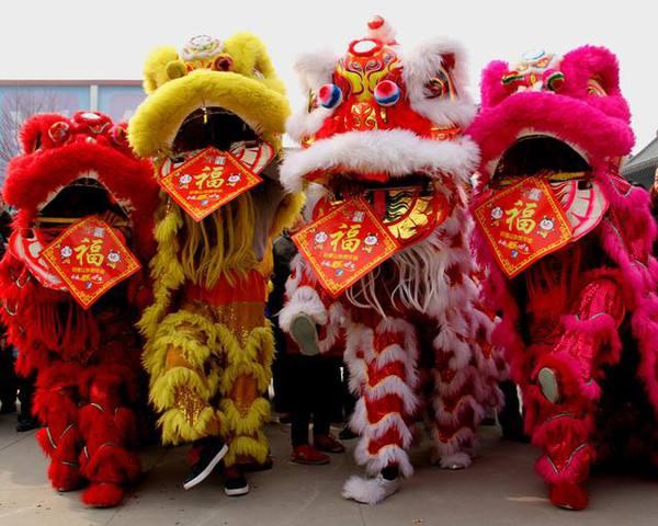 """聊城:舞狮、舞龙、皮影戏……春节""""火""""了传统文化"""