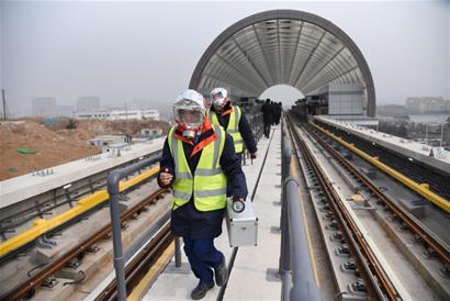青岛地铁11号线正在空载试运行 上半年试运营