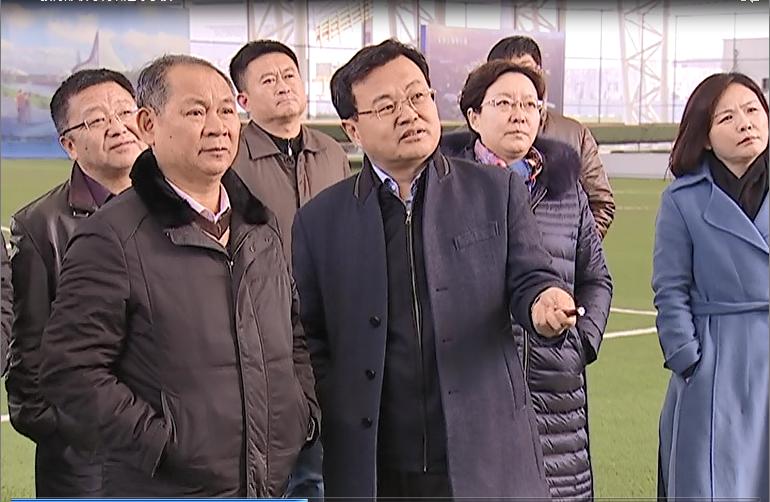 教育部领导到沾化区调研滨州国际足球运动小镇建设工作