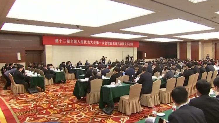 山东代表团举行第二次全体会议审议宪法修正案草案