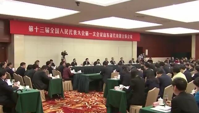 山东代表团集体学习习近平总书记重要讲话精神