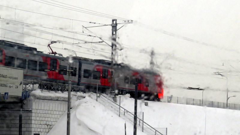 雪景中的列车