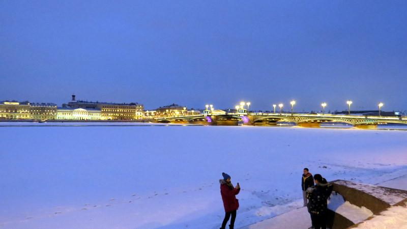 圣彼得堡涅瓦河夜景