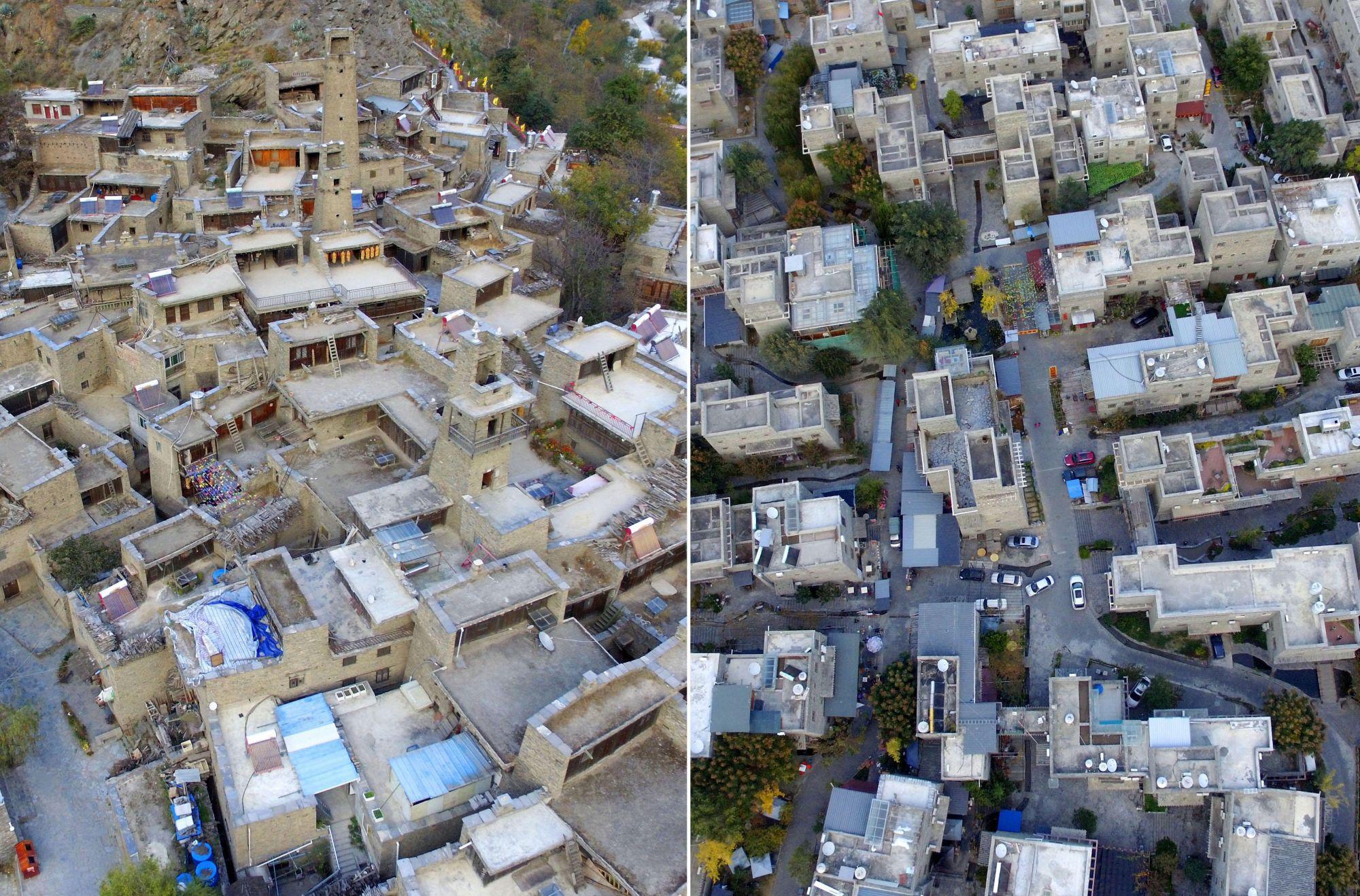 汶川地震未倒的千年古寨旁修起新寨 规模更震撼