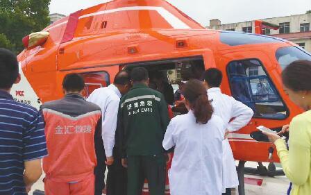 """目前山东有3架空中救援直升机 一年进行了7次""""双城营救"""""""