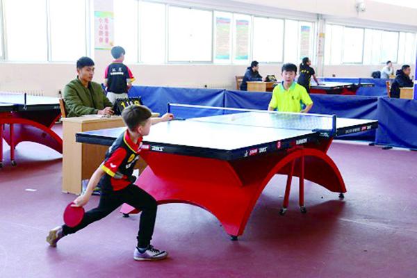 威海中小学生乒球联赛打响