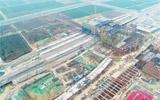 淄博北站公交枢纽主体工程完工 信号楼将于下月中旬建成