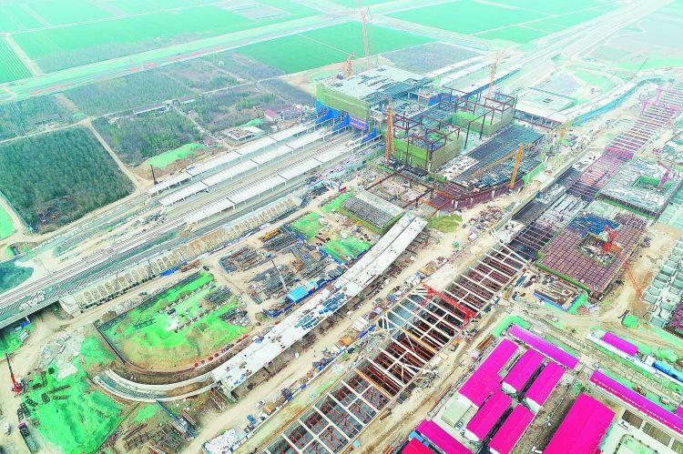 济青高铁淄博北站公交枢纽主体工程完工
