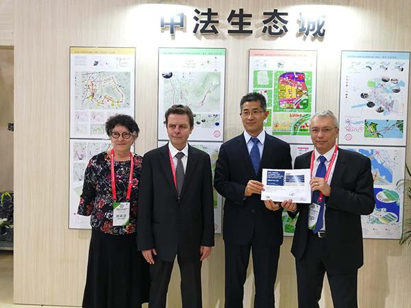 庆云县委副书记、县长孙洪昌与法国代表共叙发展