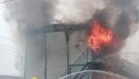 淄博中心城区一活动板房起火 幸无人员受伤
