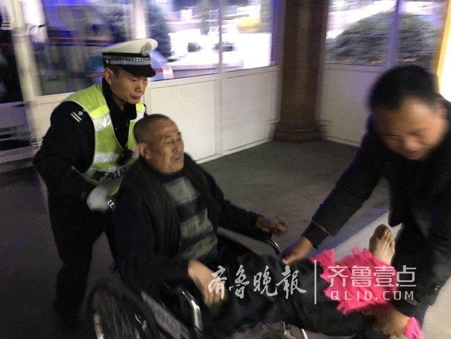 七旬老汉小腿骨折 青岛交警开道八十公里送医(图)