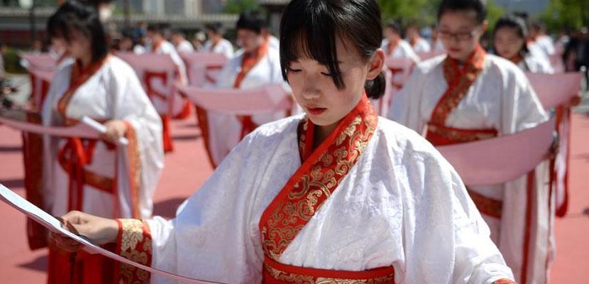 西安:汉式成人礼传承中国传统文化