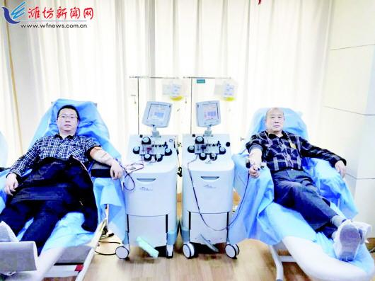 淄博的这爷俩又来潍坊献血 连续多年来潍献血