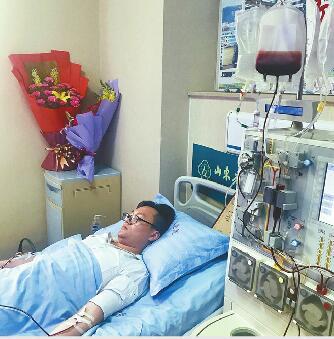 90后小伙瞒着父母来济南捐髓 杭州获捐男孩寄来感谢信