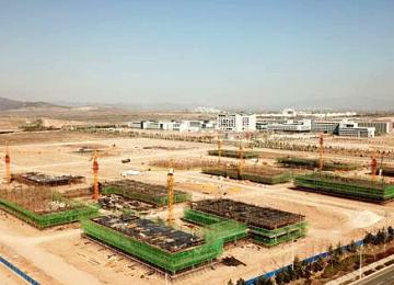 南海新区北京高科威海科创城项目施工中