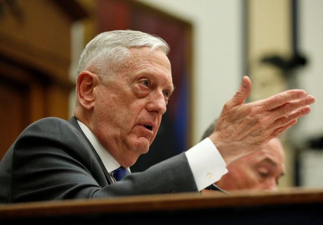 """美国防部长声言""""一次性""""打击"""