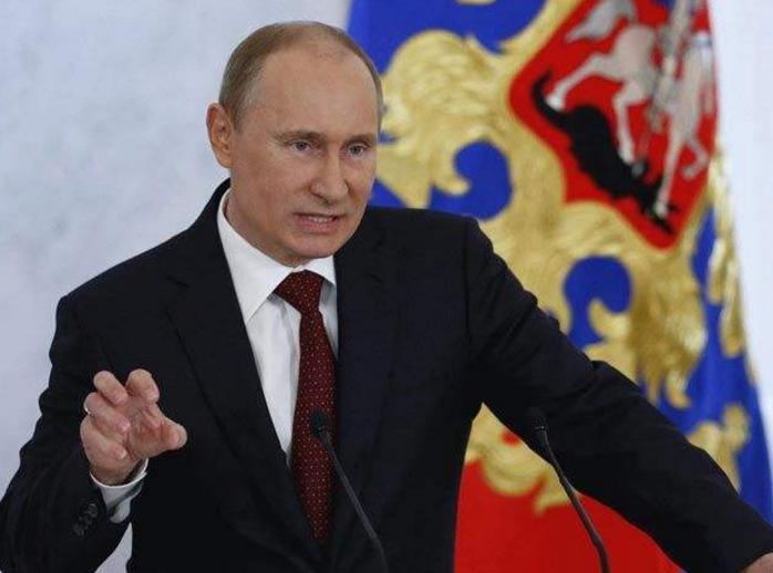 """俄罗斯总统普京就美英法对叙利亚""""军事打击""""发表声明"""