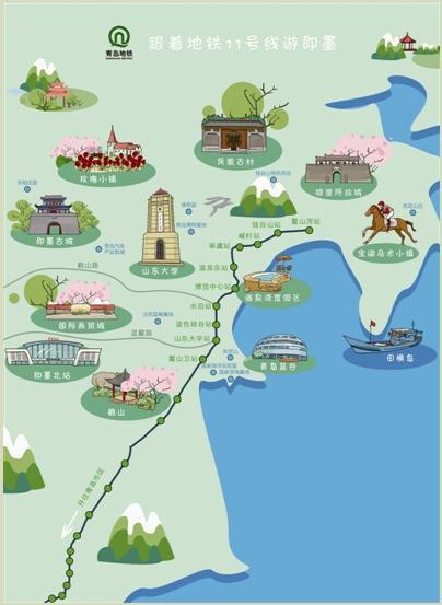 即墨7条旅游线接驳地铁站 随时感受温泉康养田园花海
